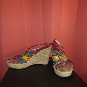 Marc Fisher colorful wedges